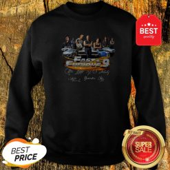 Official All character Fast And Furious 9 Signatures Sweatshirt