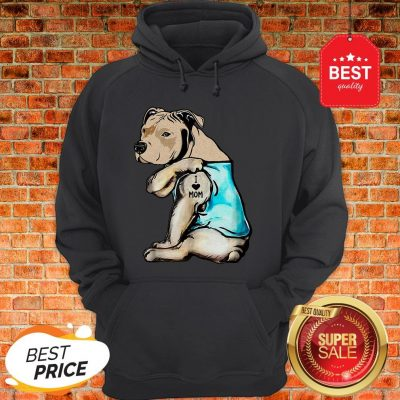 Official Staffordshire Bull Terrier I Love Mom Tattoos Hoodie