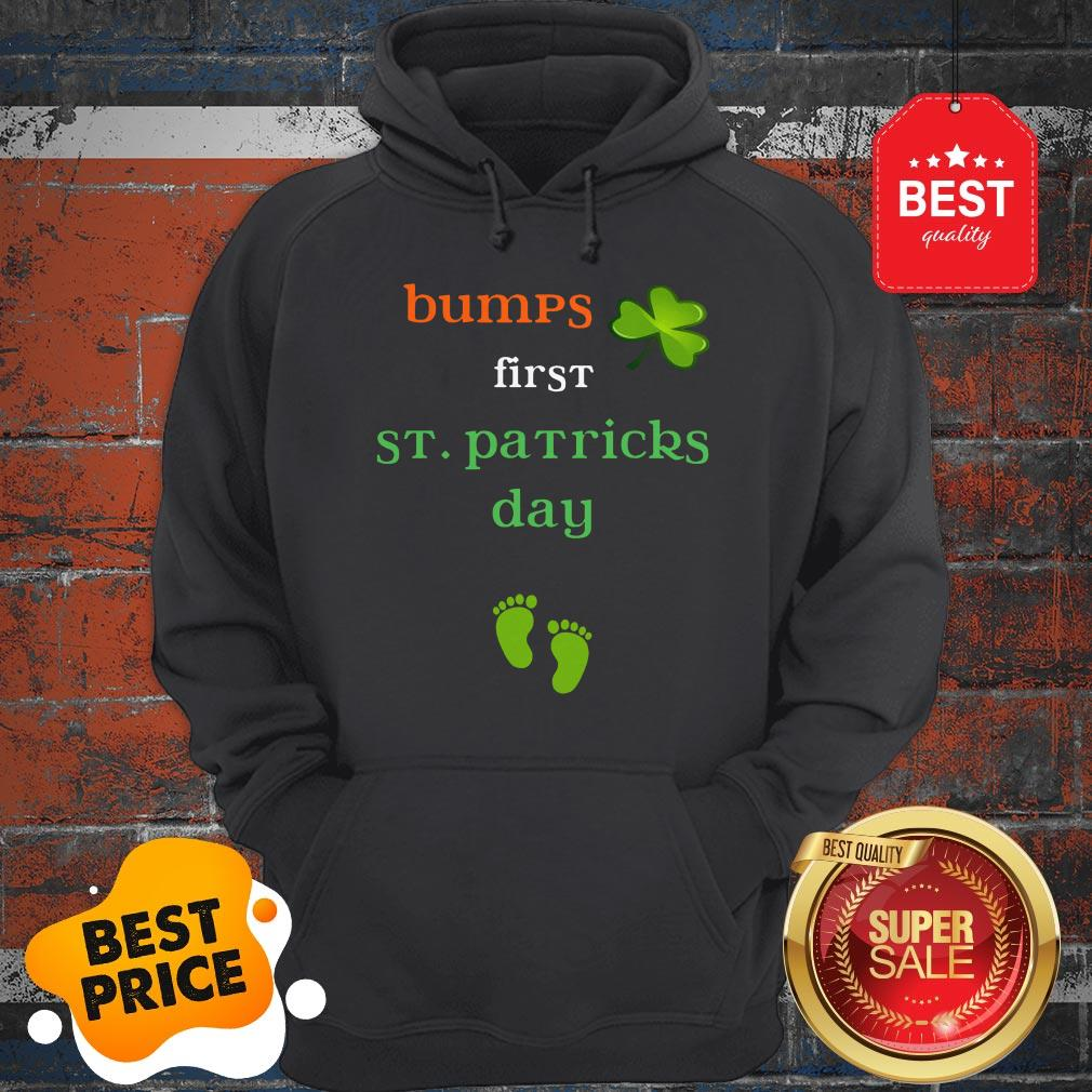 Baby's First St Patricks Day Pregnancy Announcement Tee Hoodie