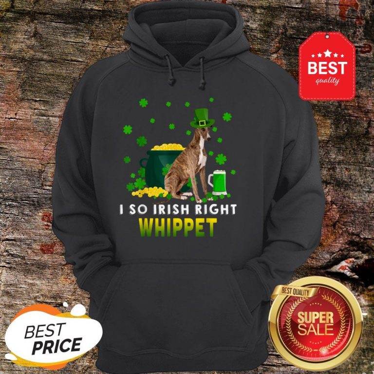 I So Irish Right Whippet Dog Lover St. Patrick's Day Gifts Hoodie