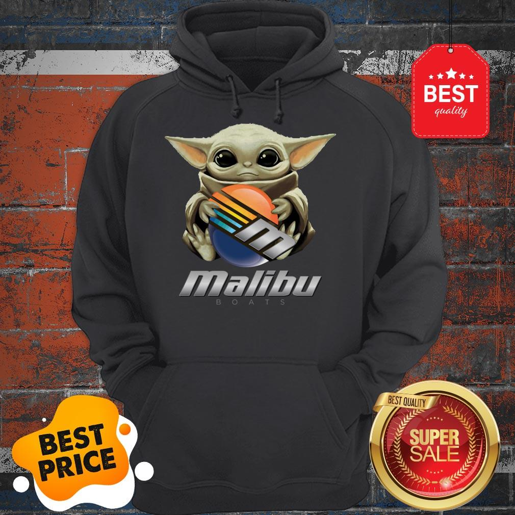 Official Baby Yoda Hug Malibu Boats Star Wars Hoodie
