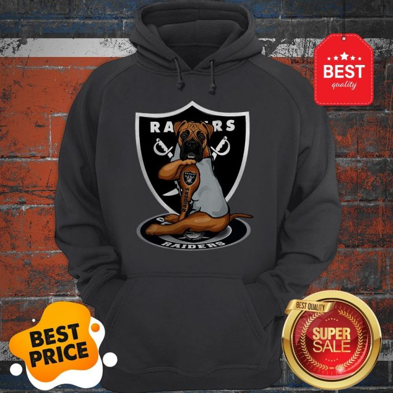 Official Boxer Tattoo Oakland Raiders Logo Hoodie