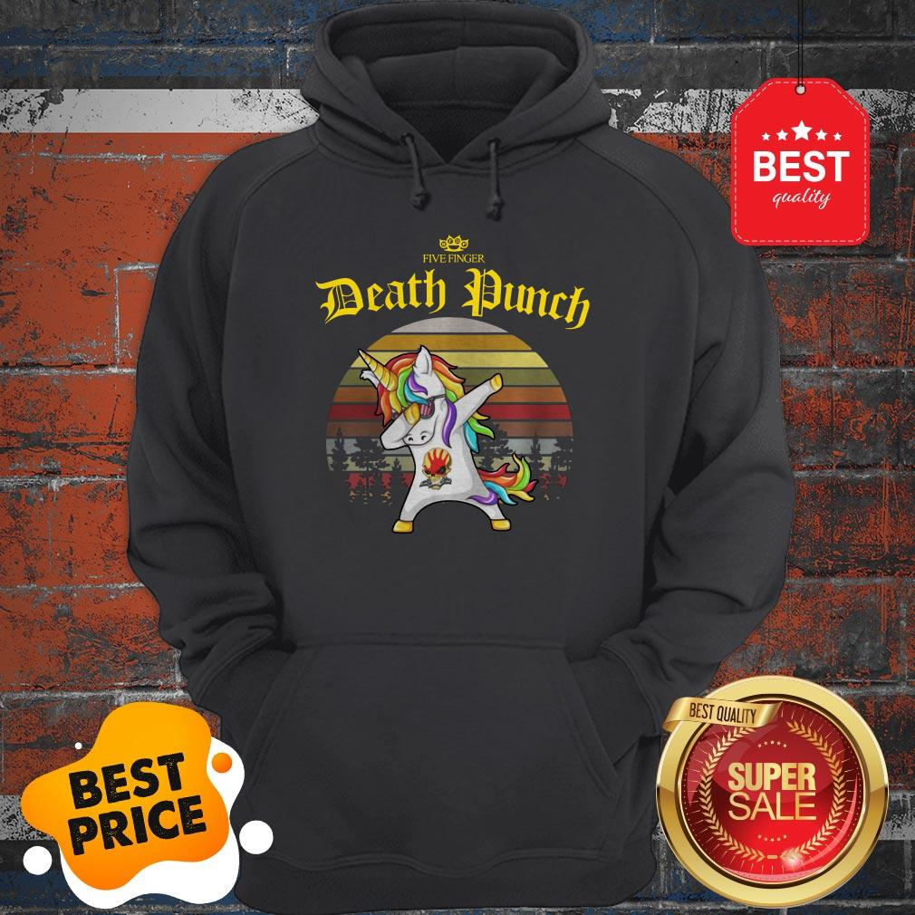Official Dabbing Unicorn Five Finger Death Punch Vintage Hoodie