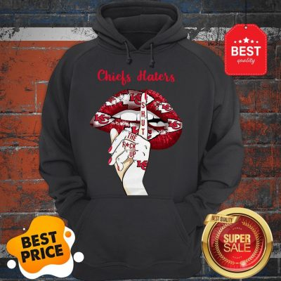 Official Lips Kansas City Chiefs Haters Shut The Fuck Up Hoodie