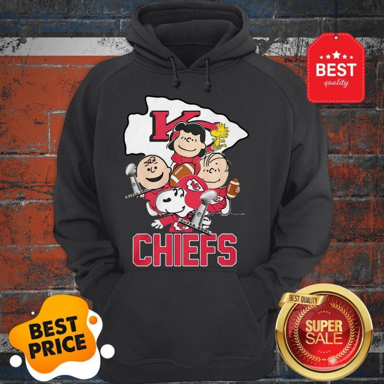 Official Snoopy Kansas City Chiefs Champion Peanuts Characters Hoodie