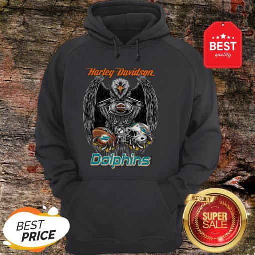 Official Harley Davidson Mashup Miami Dolphins Hoodie