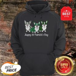 Official Corgi Happy St Patrick's Day Hoodie