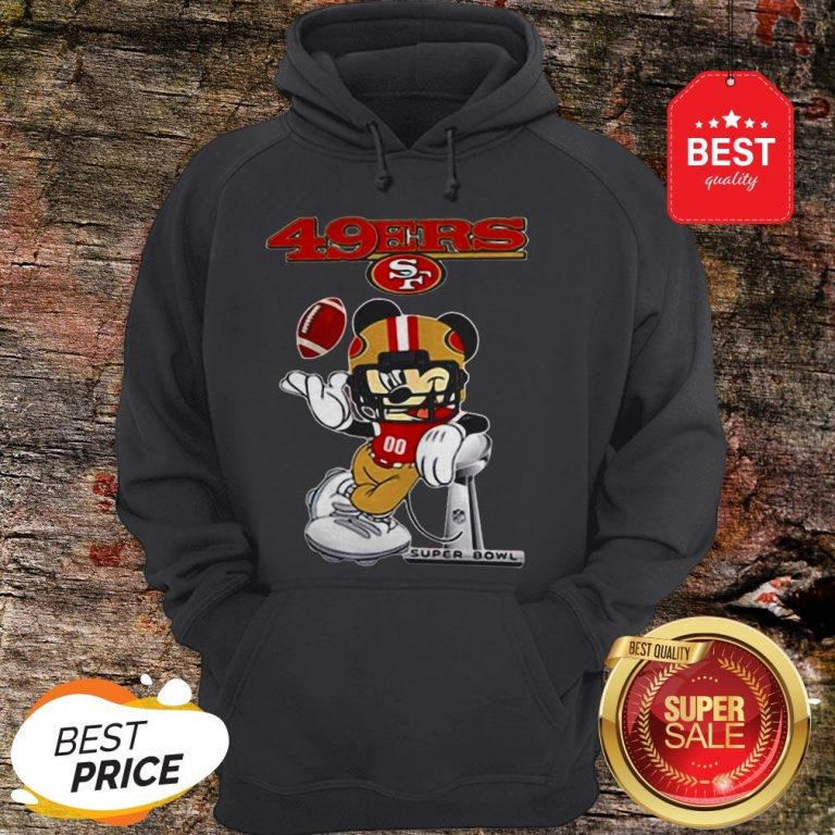 Official Disney Mickey Mouse San Francisco 49ers Super Bowl LIV Hoodie