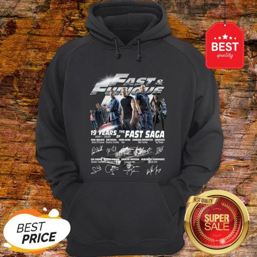 Official Fast & Furious 19 Years Of The Fast Saga 2001 2020 Signatures Hoodie
