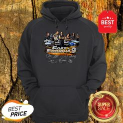 Official All character Fast And Furious 9 Signatures Hoodie