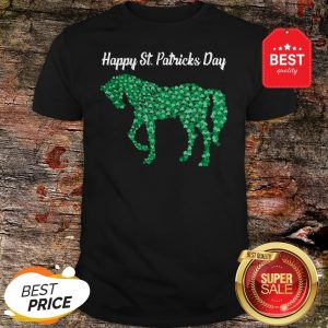 Official Horse Shamrock Horse Riding Lover St Patricks Day Shirt