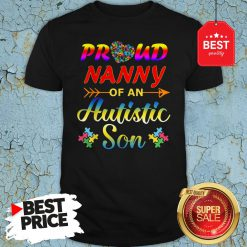Autism Awareness Tee Proud Nanny Autistic Son Funny Gifts Shirt