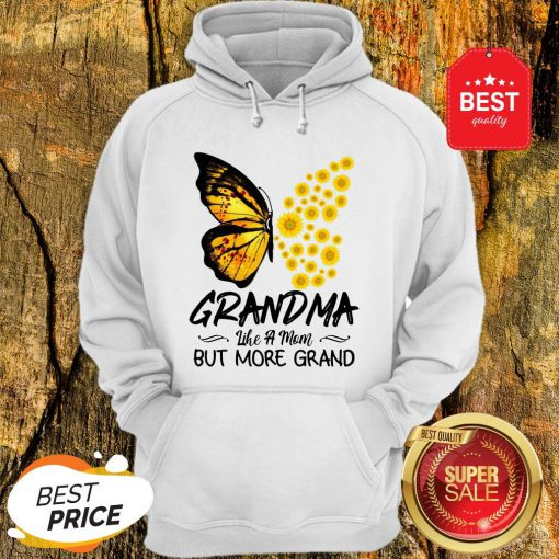 Butterfly And Sunflower Grandma Like A Mom But More Grand Hoodie