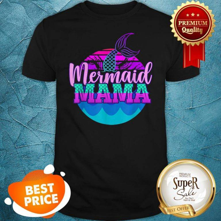 Official Mom Birthday Party Outfit Mommy Girl Mermaid Mama Shirt