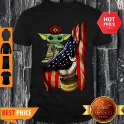 Official American Flag Baby Yoda Tattoo Firefighters Shirt