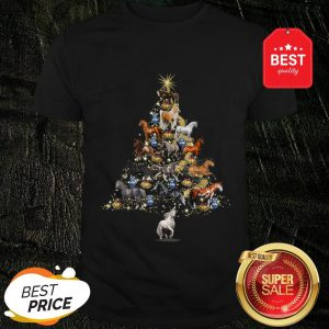 Official Horses Christmas Tree Horse Lover Xmas Gift Shirt