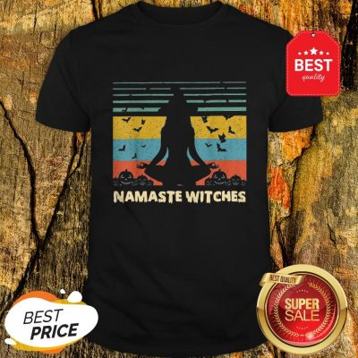 Official Hot Yoga Namaste Witches Halloween Shirt