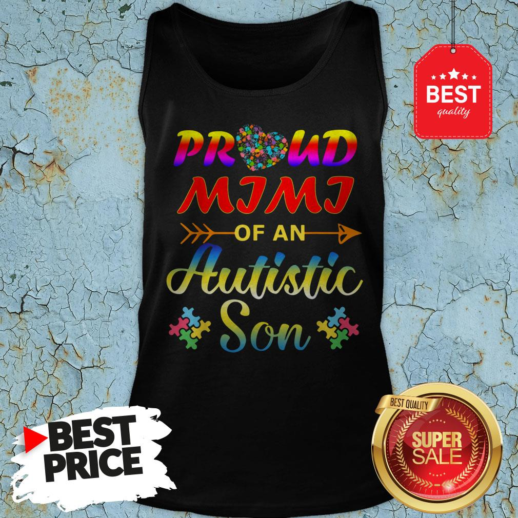 Autism Awareness Tee Proud Mimi Autistic Son Funny Gifts Tank Top