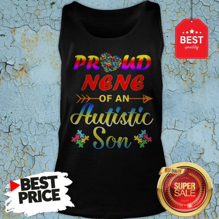 Autism Awareness Tee Proud Nene Autistic Son Funny Gifts Tank Top