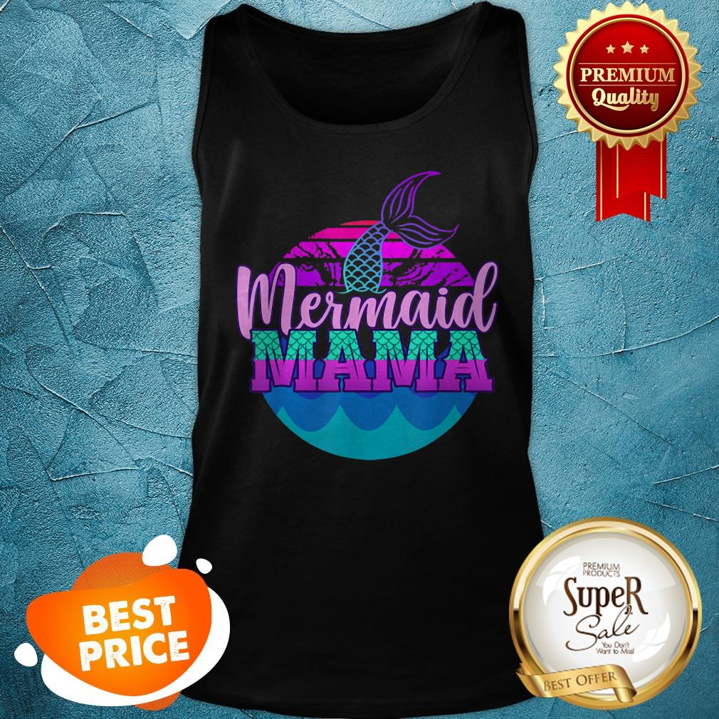 Official Mom Birthday Party Outfit Mommy Girl Mermaid Mama Tank Top