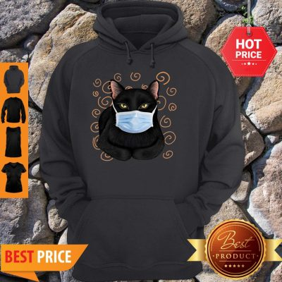 Official Black Cat Face Mask Hoodie