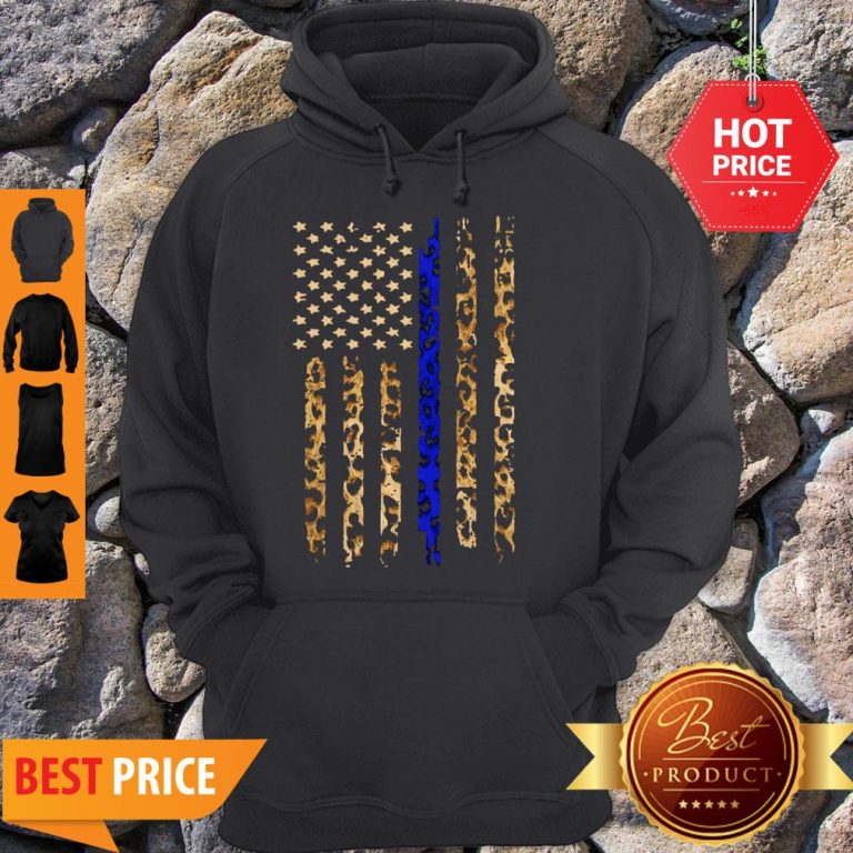 Official Thin Blue Line Mashup Leopard Hoodie