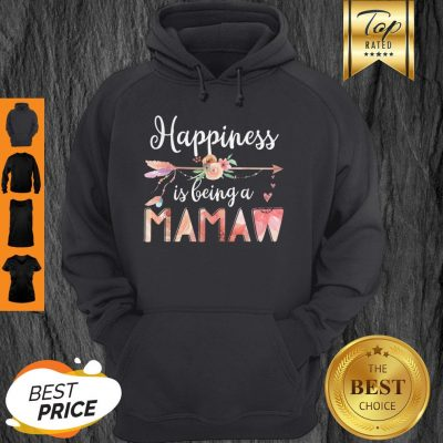 Happiness Is Being A Mamaw Floral Mother's Day Grandma Hoodie