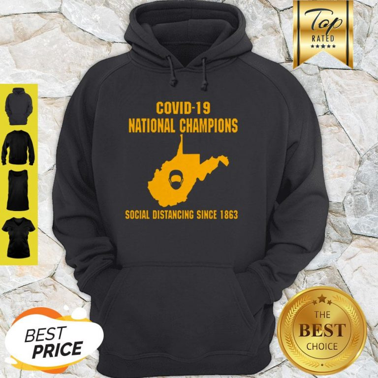 Covid-19 National Champions Social Distancing Since 1863 Hoodie