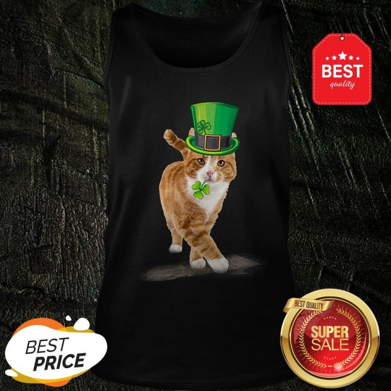 Official Friend Your Partner Your Cat St Patricks Day Tank Top