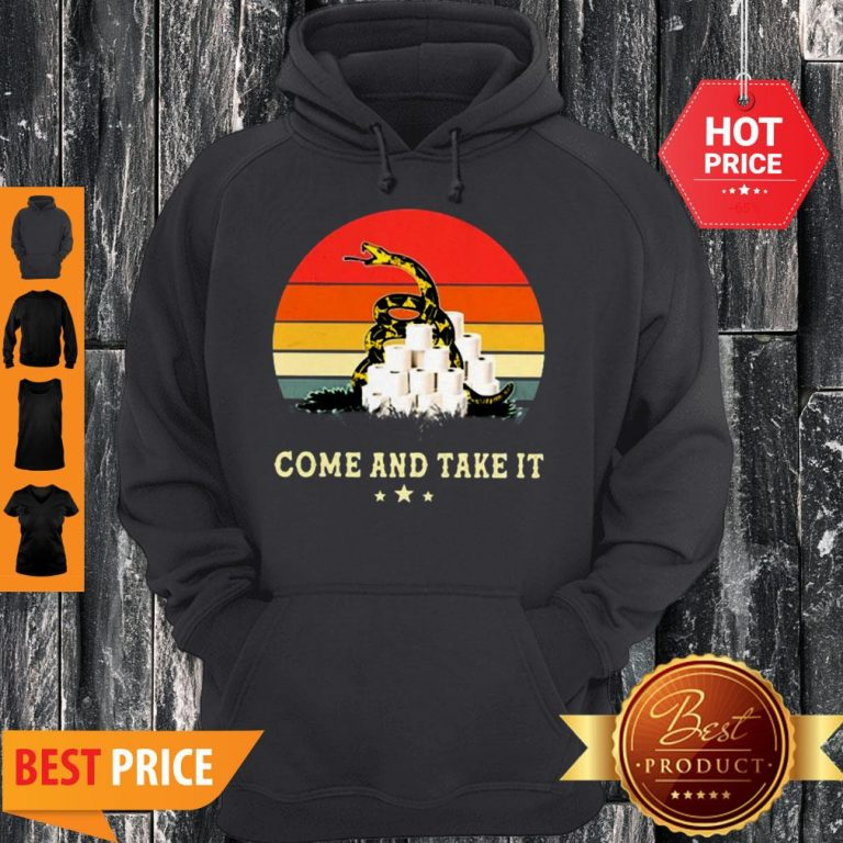 Gadsden Flag Come And Take It Toilet Paper Vintage Hoodie