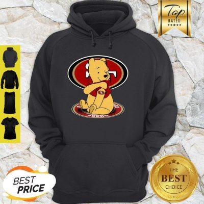 Disney Pooh Tattoo San Francisco 49ers Logo Hoodie