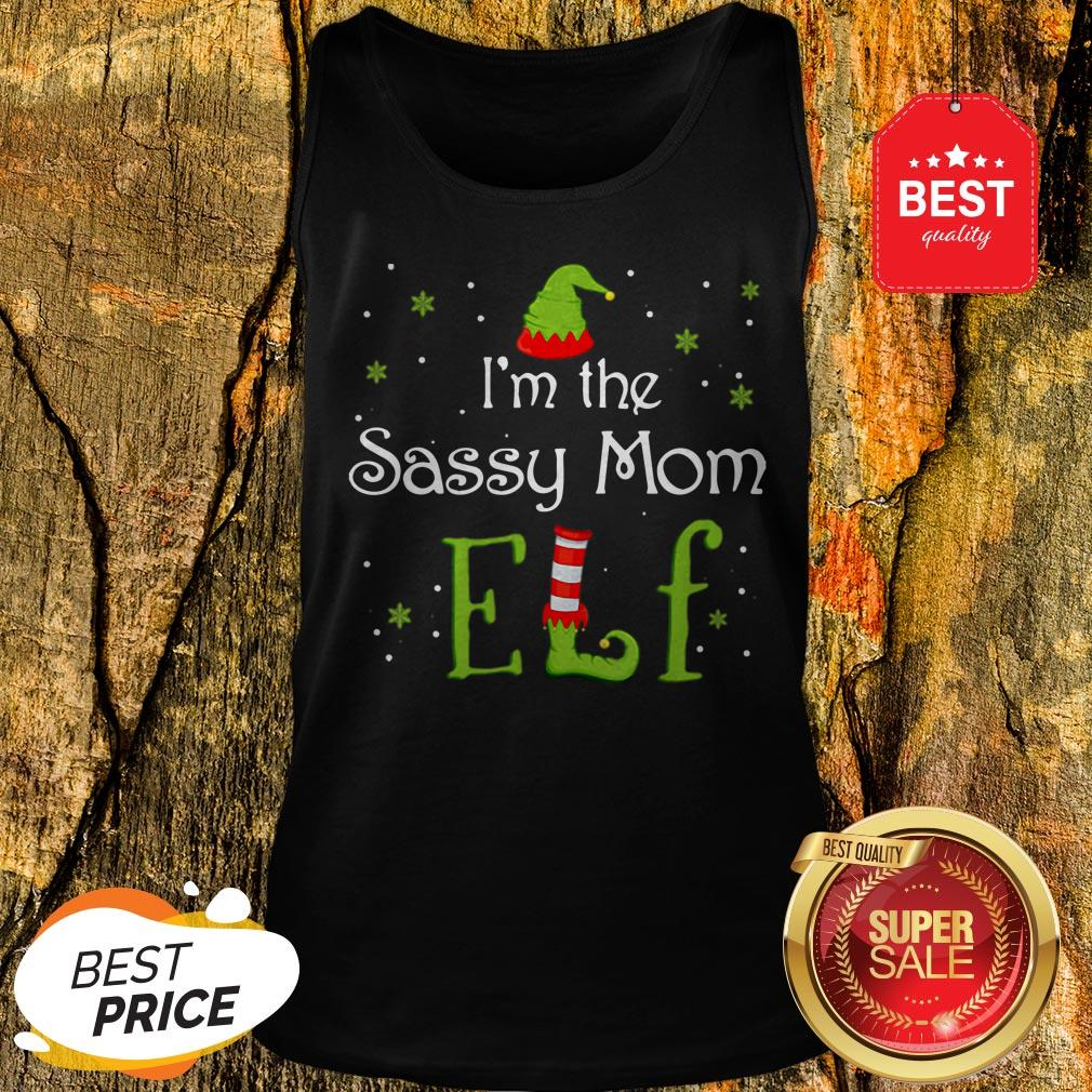 Awesome I'm The Sassy Mom Elf Funny Group Matching Family Xmas Gift Tank Top