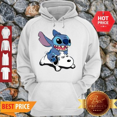 Official A Friend For Life Stitch And Snoopy Hoodie