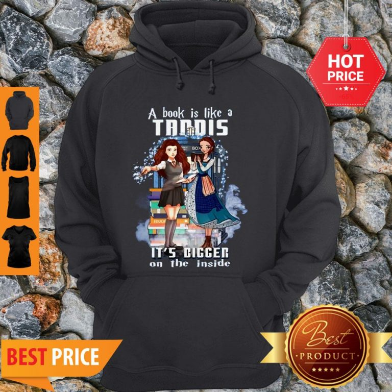 A Book Is Like A TARDIS It's Bigger On The Inside Hoodie