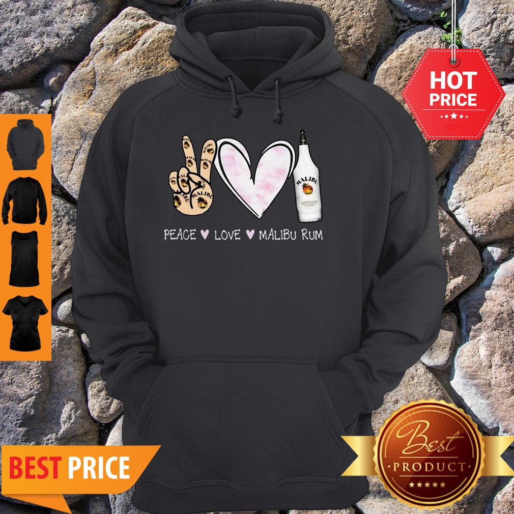 Official Peace Love Malibu Rum Hoodie