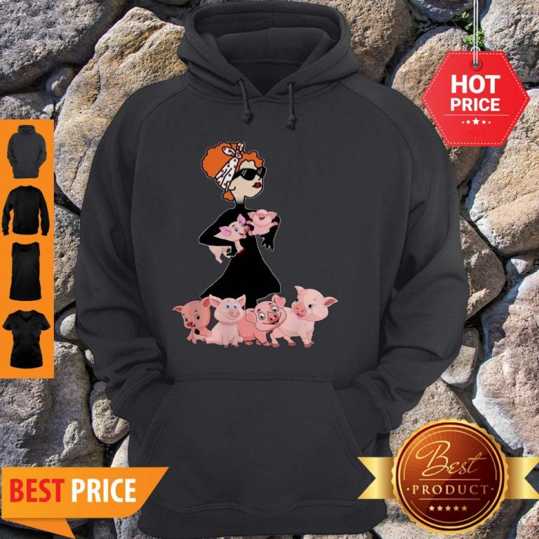 Pig A Cool Lady Crewneck Sorry My Nice Button Is Out Of Order But My Bite Me Button Works Just Fine Hoodie