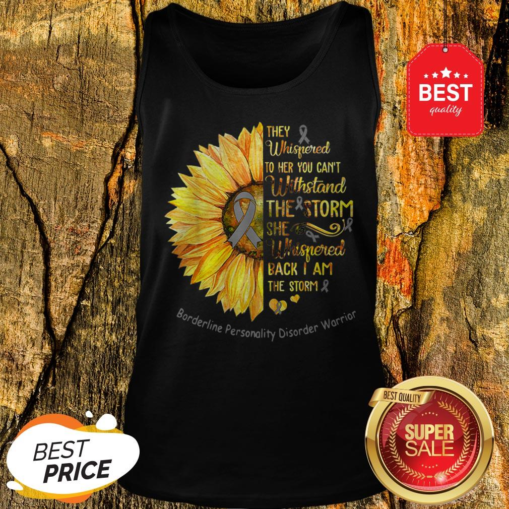 Borderline Personality Disorder Warrior Breast Cancer Sunflower Tank Top