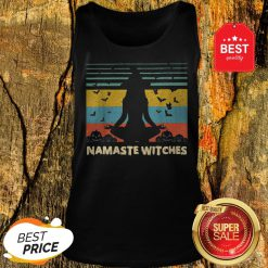 Official Hot Yoga Namaste Witches Halloween Tank Top
