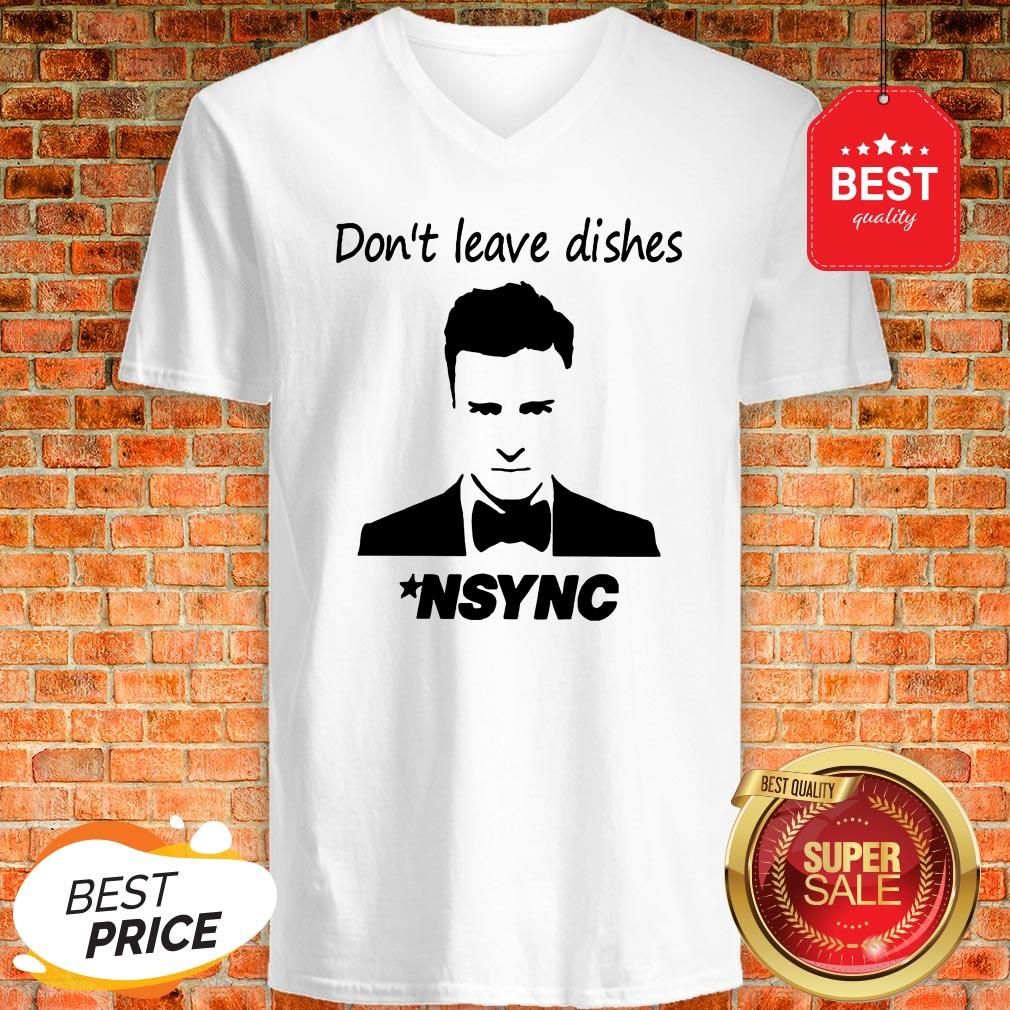 Official Don't Leave Dishes NSYNC V-Neck