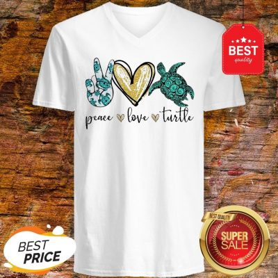 Official Peace Love Turtle V-Neck