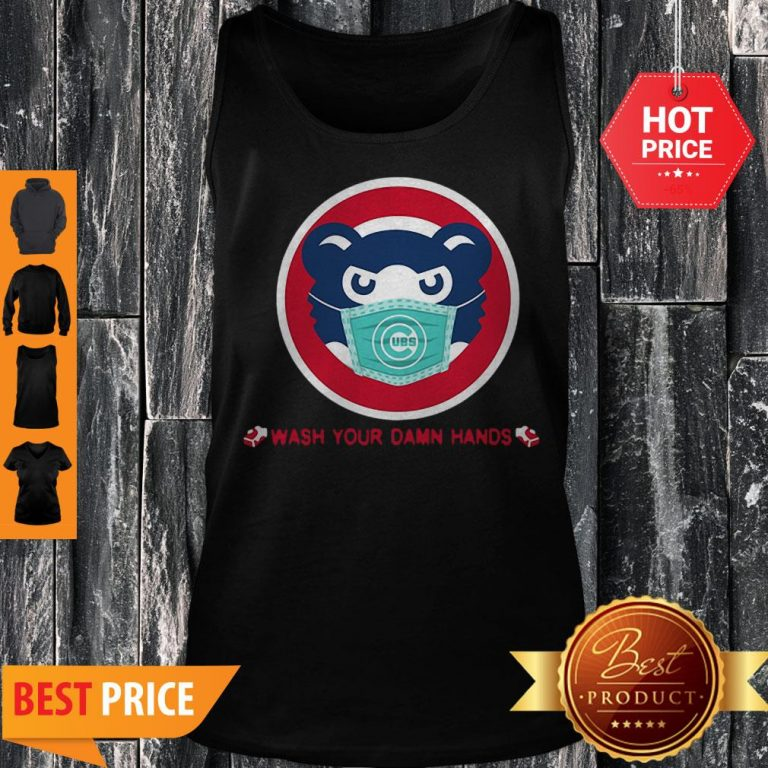 Chicago Cubs Wash Your Damn Hands Covid-19 Tank Top
