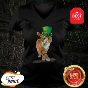 Official Friend Your Partner Your Cat St Patricks Day V-Neck