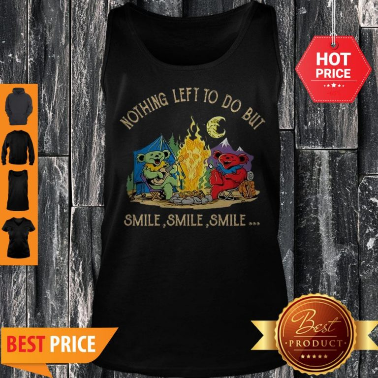 Grateful Dead Camping Nothing Left To Do But Smile Tank Top