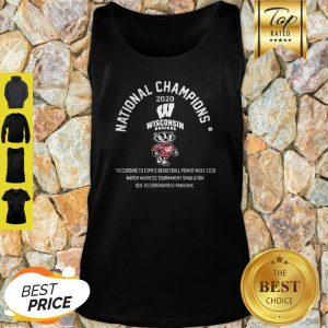 National Champions 2020 Wisconsin Badgers Tank Top