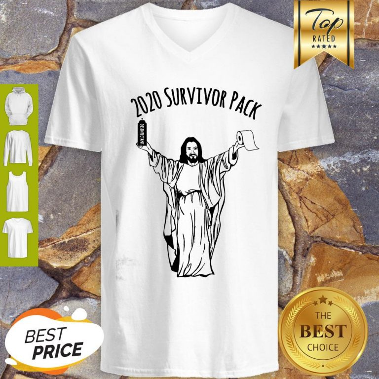 2020 Survivor Pack Jesus Hold Disinfectant And Toilet Paper Tank Top