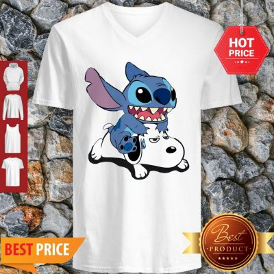 Official A Friend For Life Stitch And Snoopy V-Neck