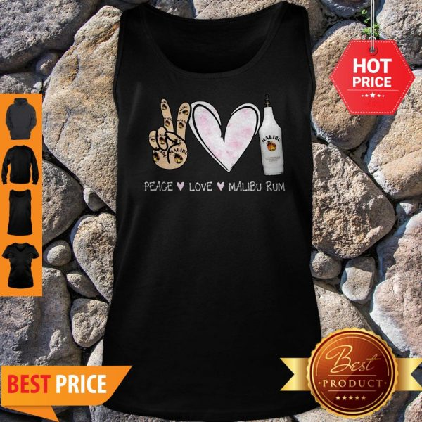 Official Peace Love Malibu Rum Tank Top