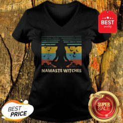 Official Hot Yoga Namaste Witches Halloween V-Neck
