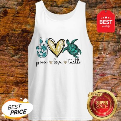 Official Peace Love Turtle Tank Top