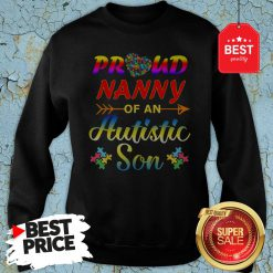 Autism Awareness Tee Proud Nanny Autistic Son Funny Gifts Sweatshirt